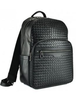 Мужской кожаный рюкзак Tiding Bag B3-8601A чёрный