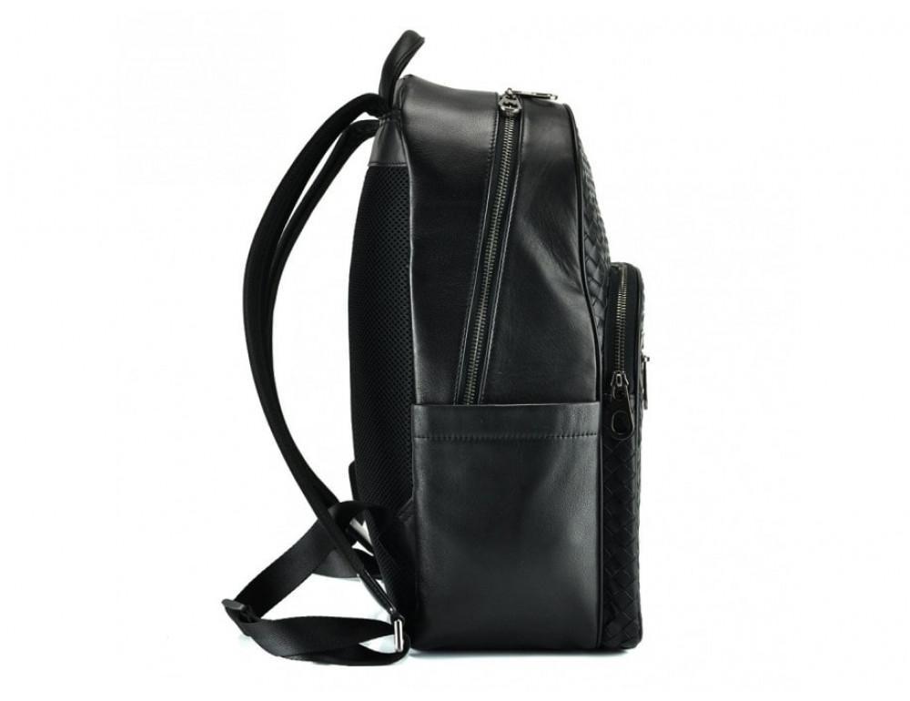 Мужской кожаный рюкзак Tiding Bag B3-8601A чёрный - Фото № 4
