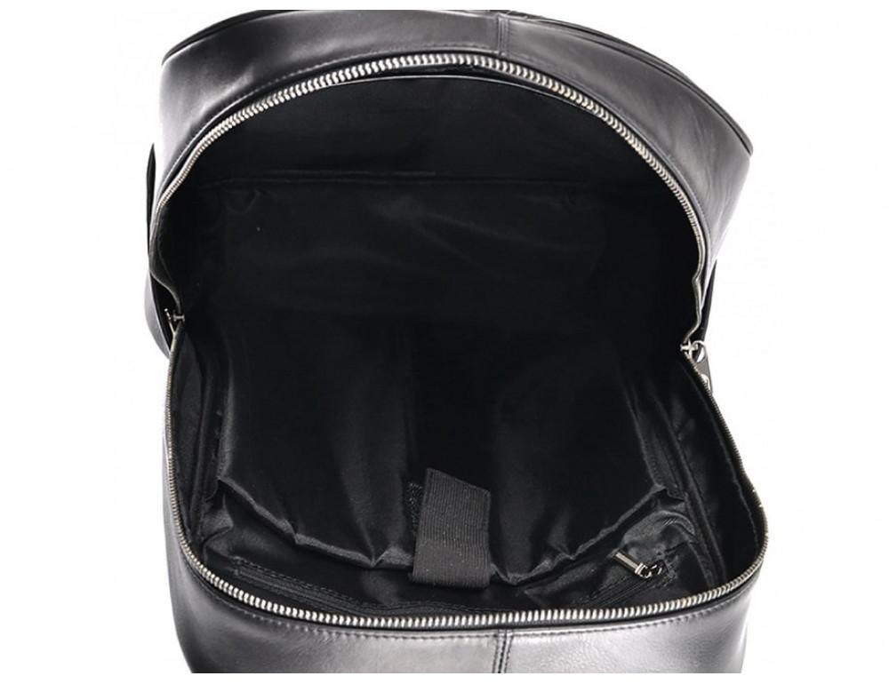 Мужской кожаный рюкзак Tiding Bag B3-8601A чёрный - Фото № 5