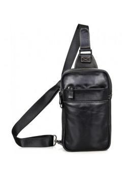 Кожаный рюкзак Tiding Bag 4002A черный