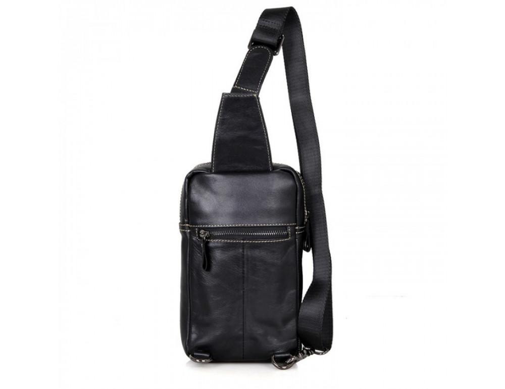 Кожаный рюкзак Tiding Bag 4002A черный - Фото № 2