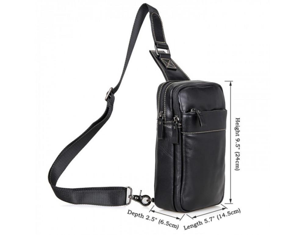 Кожаный рюкзак Tiding Bag 4002A черный - Фото № 3