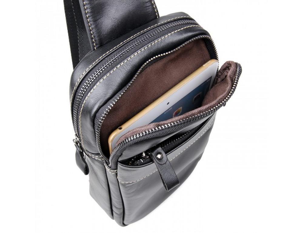 Кожаный рюкзак Tiding Bag 4002A черный - Фото № 4