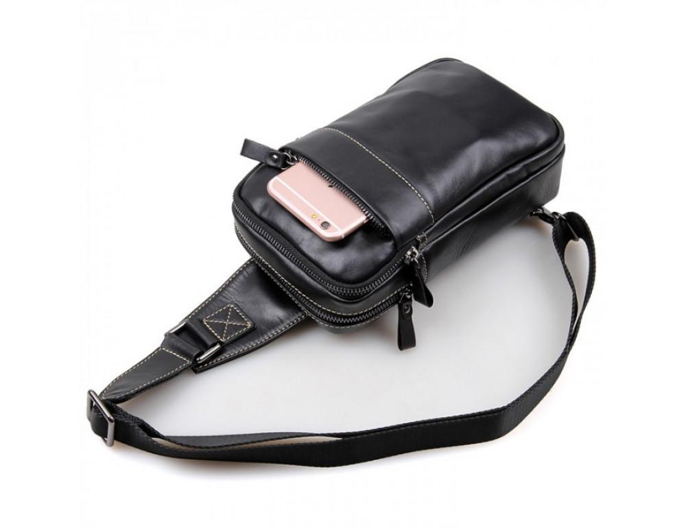 Кожаный рюкзак Tiding Bag 4002A черный - Фото № 5