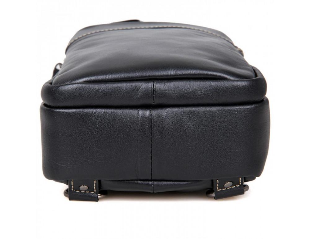 Кожаный рюкзак Tiding Bag 4002A черный - Фото № 6