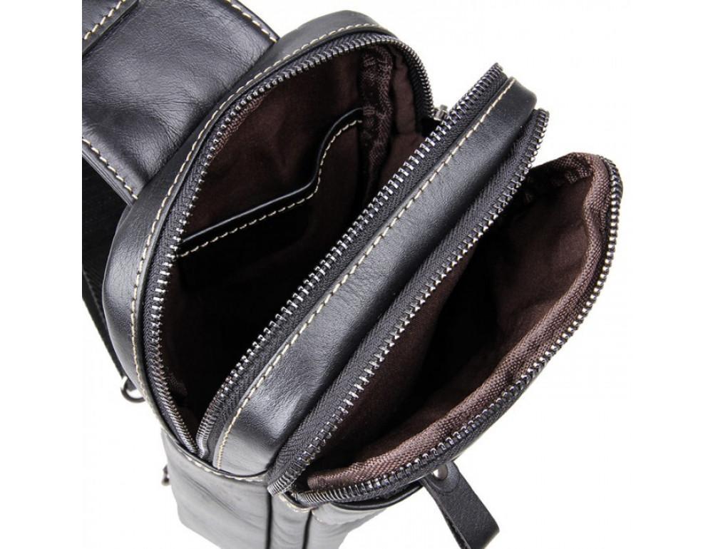 Кожаный рюкзак Tiding Bag 4002A черный - Фото № 7