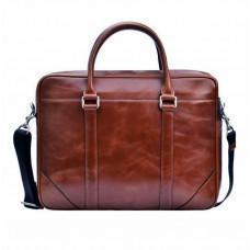 Мужской кожаный портфель Issa Hara B14 (92-00) тёмно-коричневый