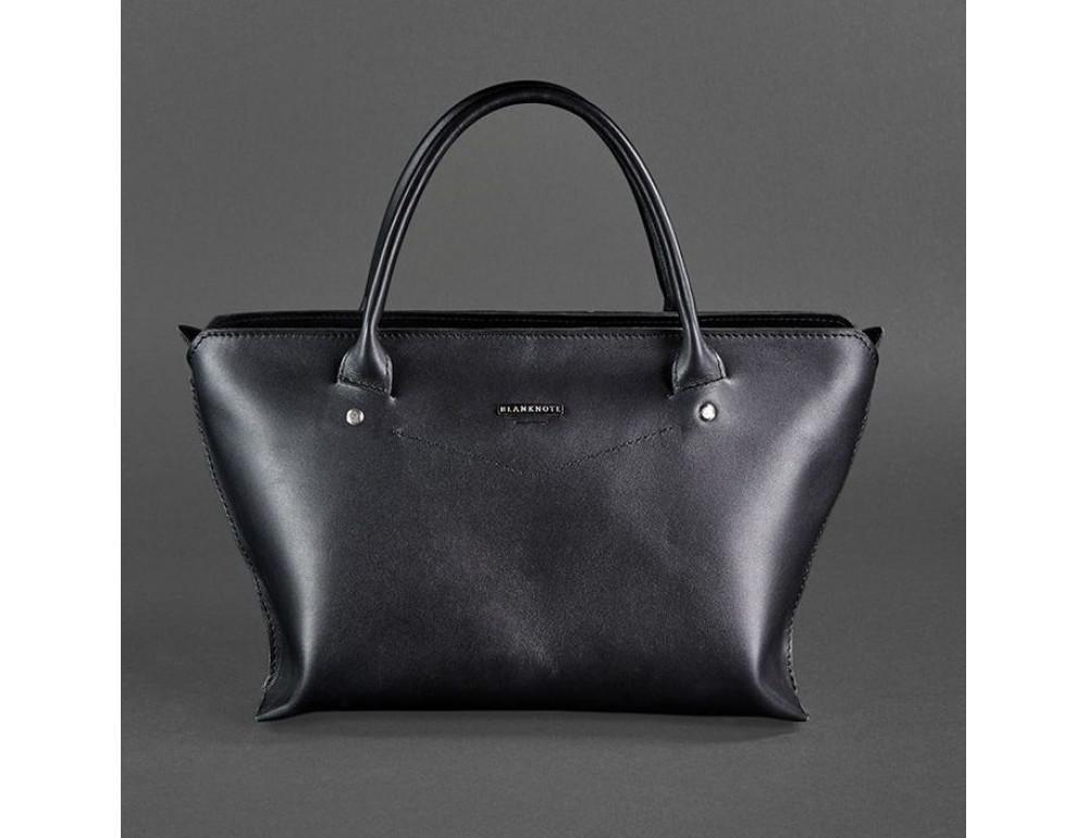 Кожаная женская сумка Blanknote BN-BAG-24-g графитовая - Фото № 1