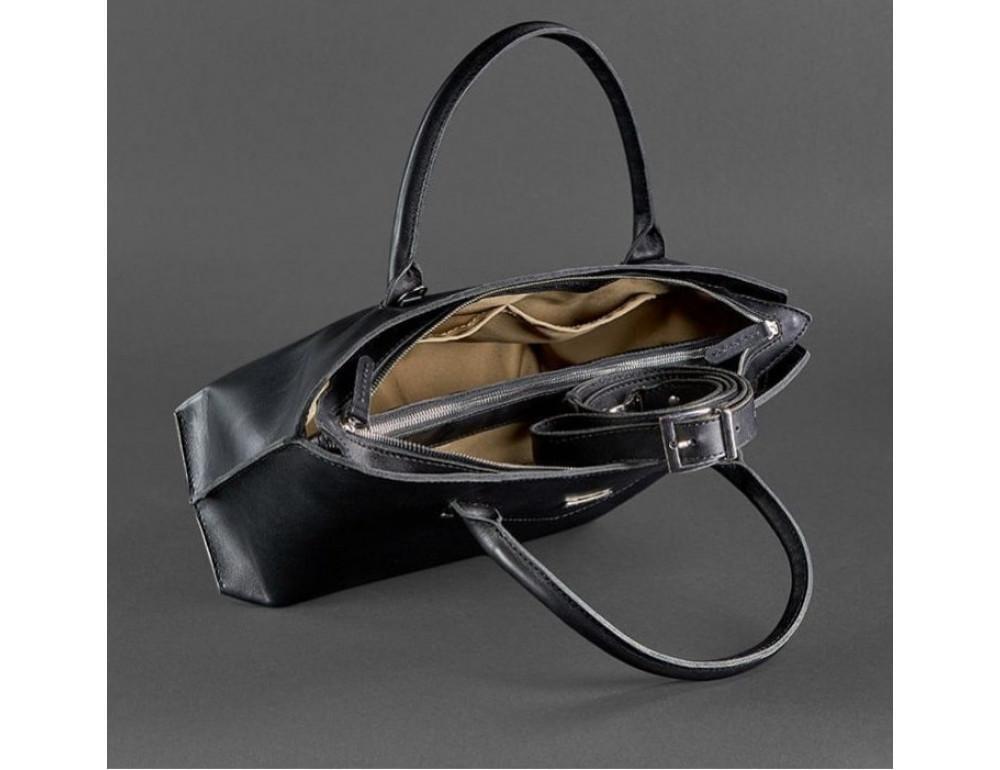 Кожаная женская сумка Blanknote BN-BAG-24-g графитовая - Фото № 2