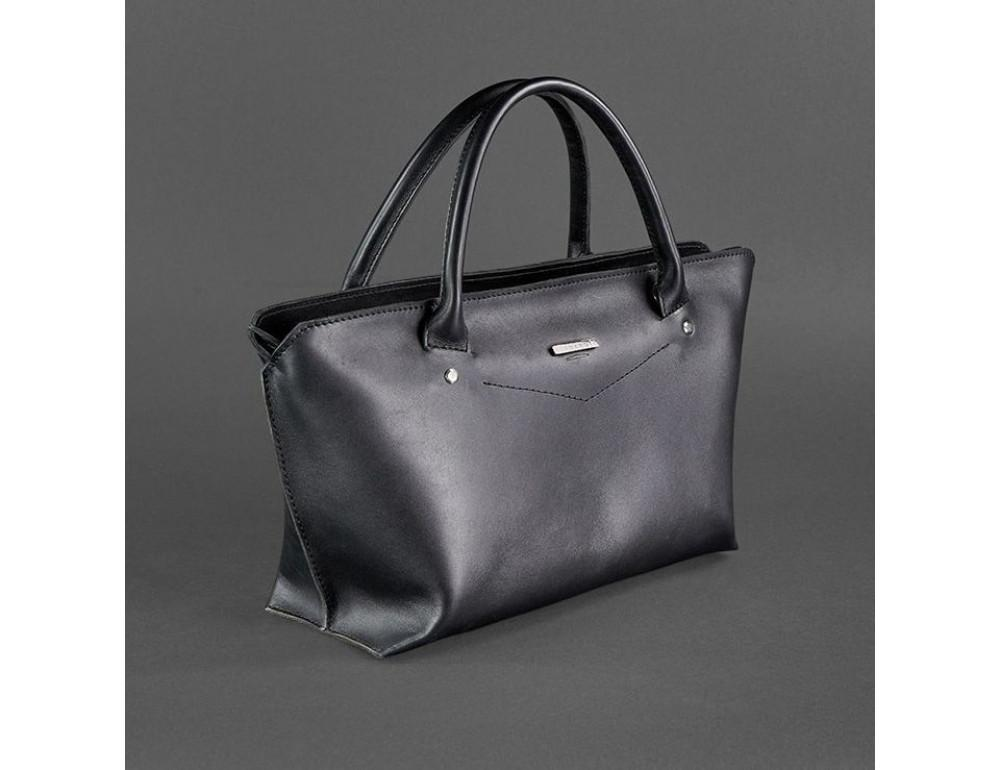 Кожаная женская сумка Blanknote BN-BAG-24-g графитовая - Фото № 3
