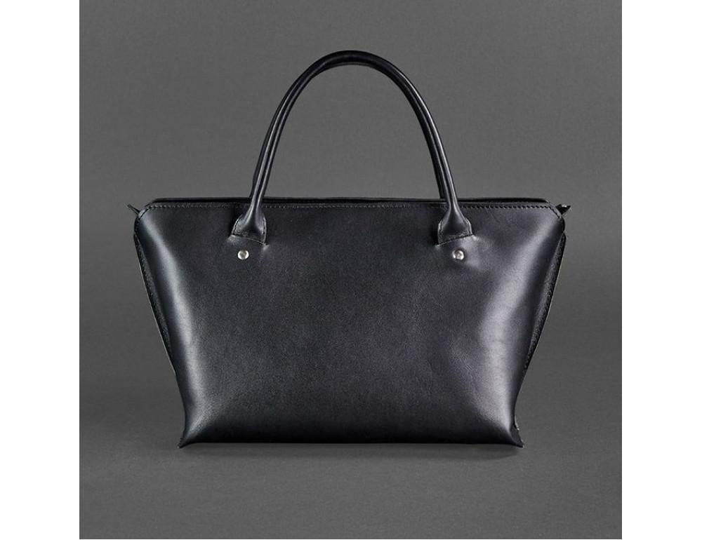 Кожаная женская сумка Blanknote BN-BAG-24-g графитовая - Фото № 4