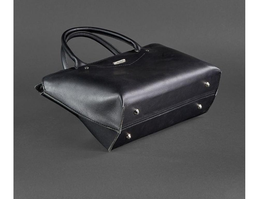 Кожаная женская сумка Blanknote BN-BAG-24-g графитовая - Фото № 6
