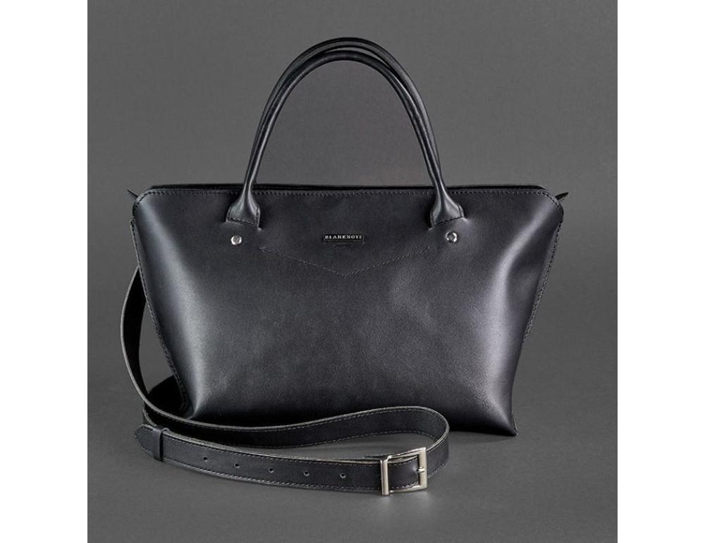 Кожаная женская сумка Blanknote BN-BAG-24-g графитовая - Фото № 5