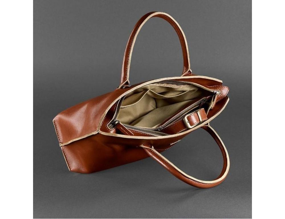 Кожаная женская сумка Blanknote BN-BAG-24-k коньяк - Фото № 2