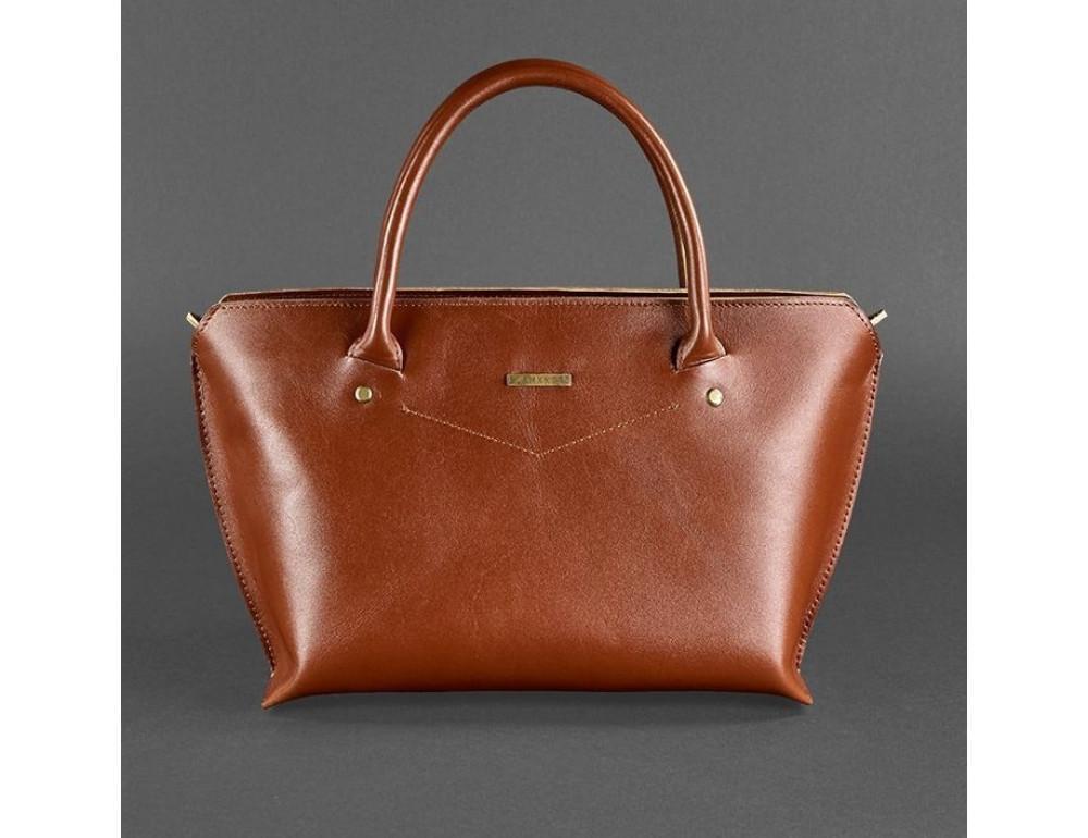 Шкіряна жіноча сумка Blanknote BN-BAG-24-k коньяк