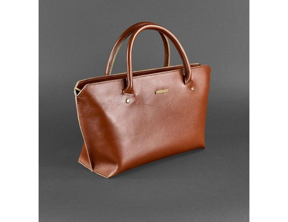 Кожаная женская сумка Blanknote BN-BAG-24-k коньяк - Фото № 3
