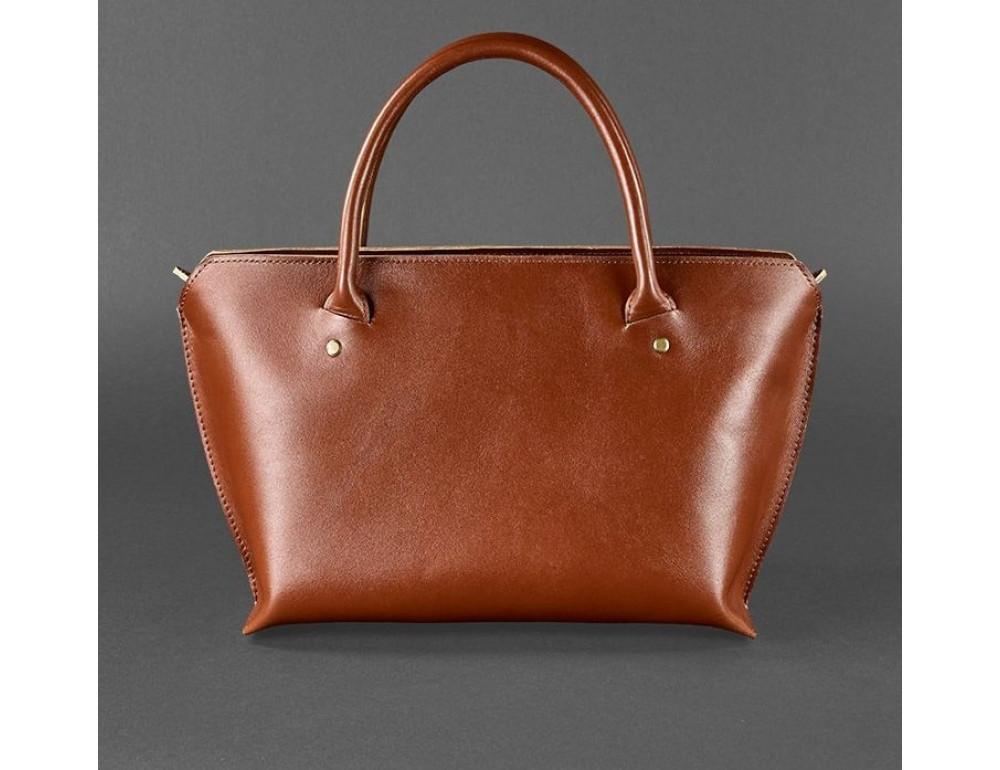 Кожаная женская сумка Blanknote BN-BAG-24-k коньяк - Фото № 4