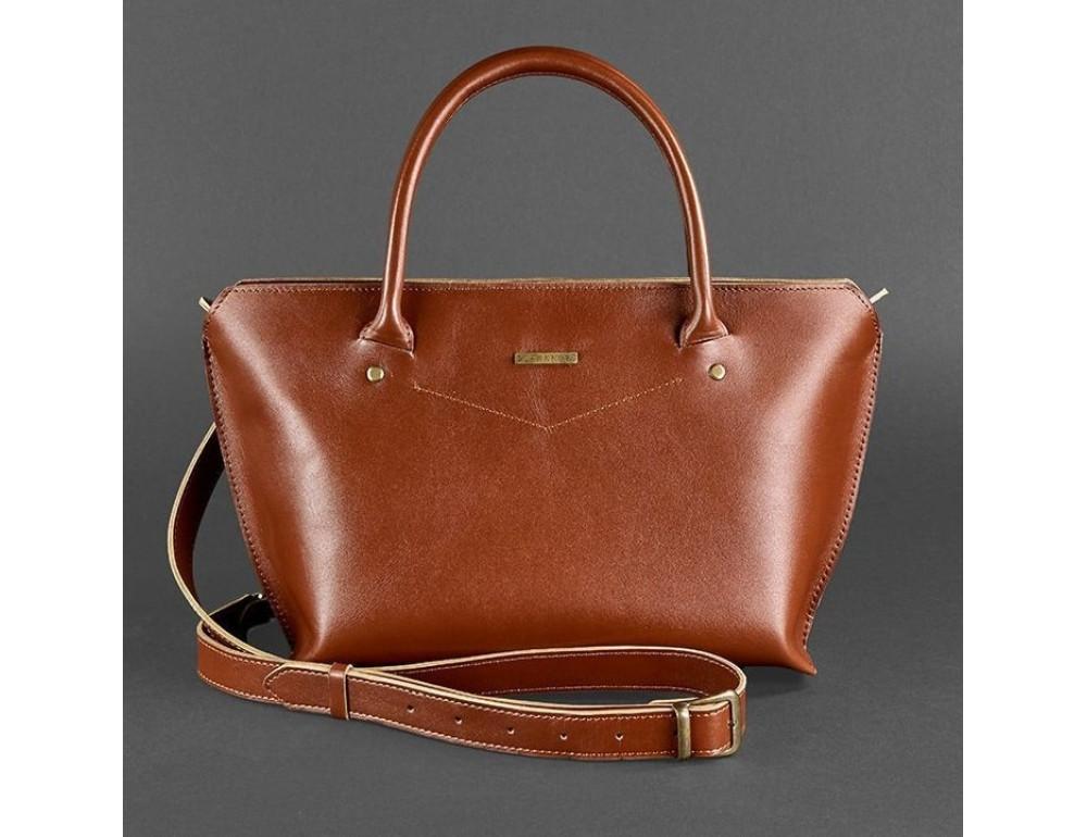 Кожаная женская сумка Blanknote BN-BAG-24-k коньяк - Фото № 5
