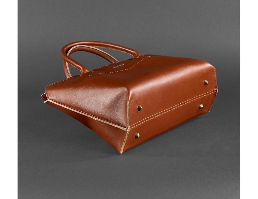 Кожаная женская сумка Blanknote BN-BAG-24-k коньяк - Фото № 6