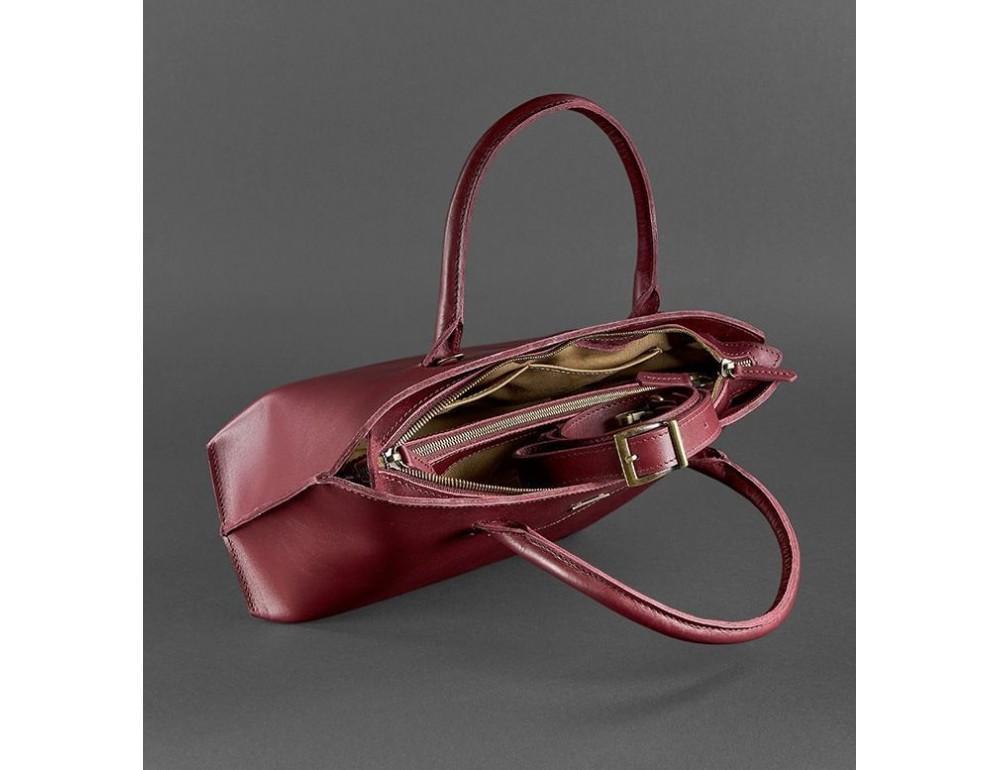 Кожаная женская сумка Blanknote BN-BAG-24-vin виноград - Фото № 2