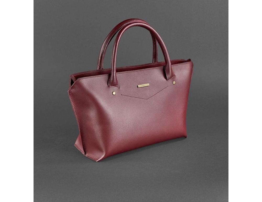 Кожаная женская сумка Blanknote BN-BAG-24-vin виноград - Фото № 3