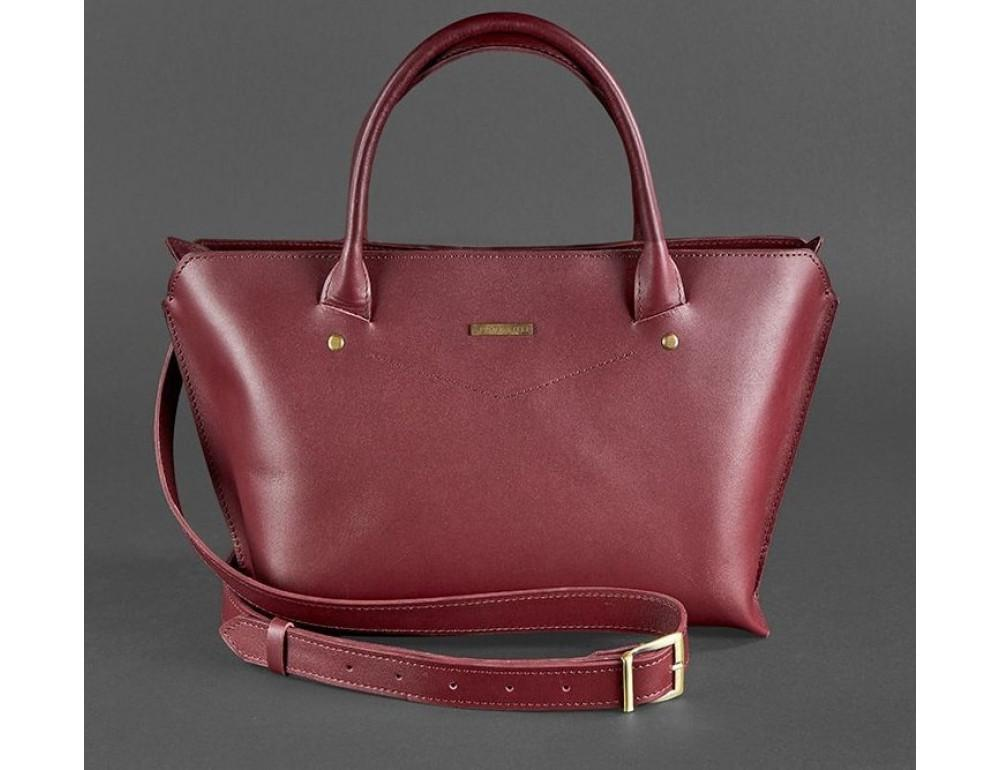 Кожаная женская сумка Blanknote BN-BAG-24-vin виноград - Фото № 6
