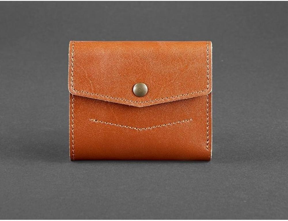 Маленький женский кошелек Blanknote BN-W-2-1-k коньяк - Фото № 1