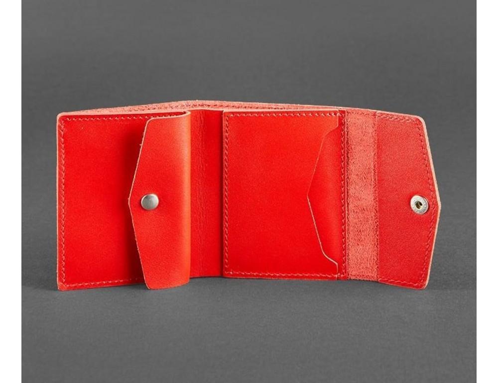 Маленький женский кошелек Blanknote BN-W-2-1-klubnika красный - Фото № 3