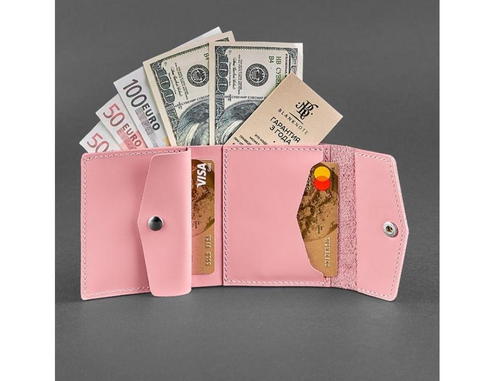 Маленький женский кошелек Blanknote BN-W-2-1-pink пудра - Фото № 2