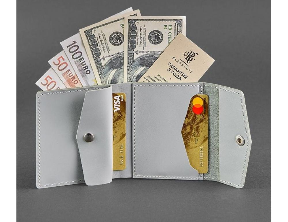 Маленький женский кошелек Blanknote BN-W-2-1-shadow серый - Фото № 2
