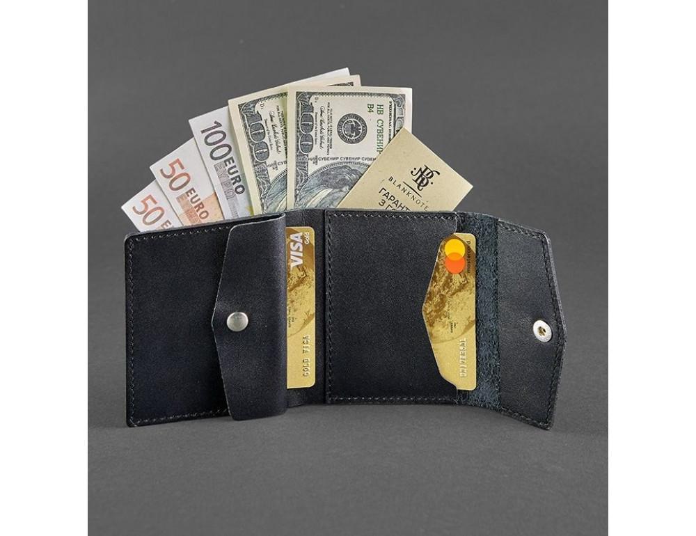Маленький женский кошелек Blanknote BN-W-2.1-g черный - Фото № 2