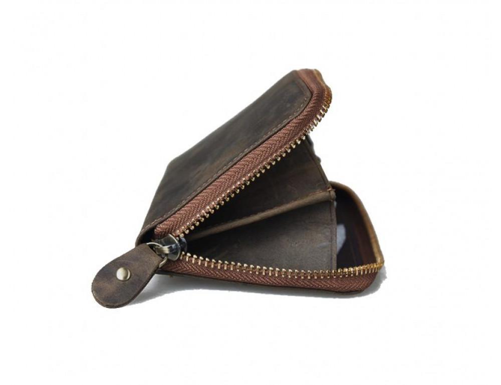 Кожаный клатч TIDING BAG T4007 коричневый - Фото № 3