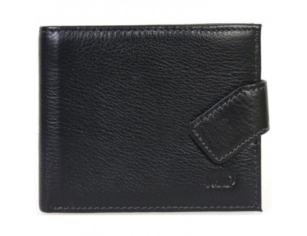 Мужской кожаный кошелёк MS Collection MD 4m-611 черный