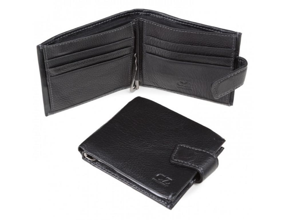 Мужской кожаный кошелёк MS Collection MD 4m-611 черный - Фото № 2
