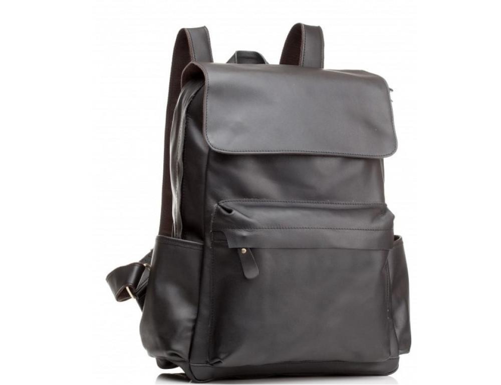 Мужской кожаный рюкзак Tiding Bag Bp5-2805A чёрный