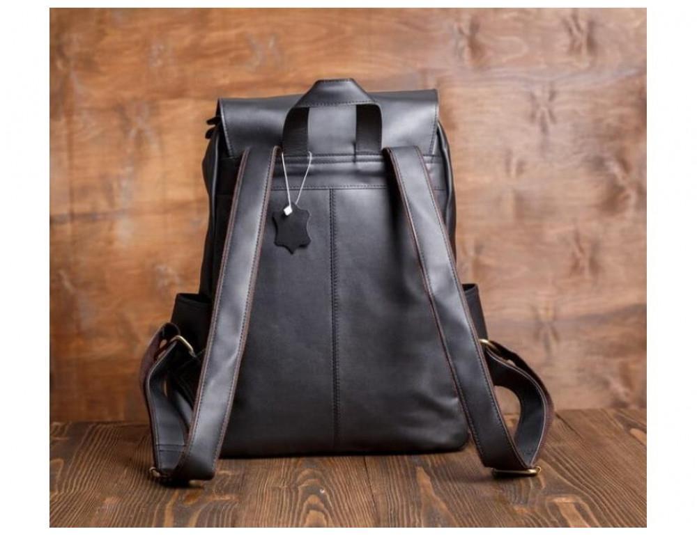 Мужской кожаный рюкзак Tiding Bag Bp5-2805A чёрный - Фото № 5
