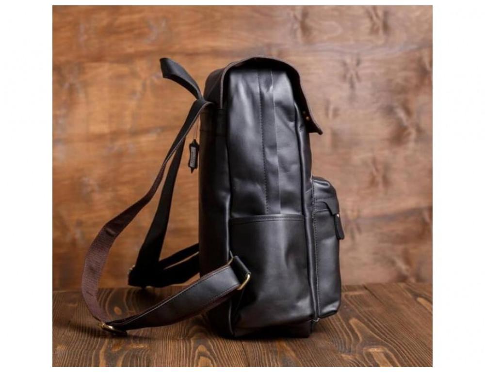 Мужской кожаный рюкзак Tiding Bag Bp5-2805A чёрный - Фото № 6