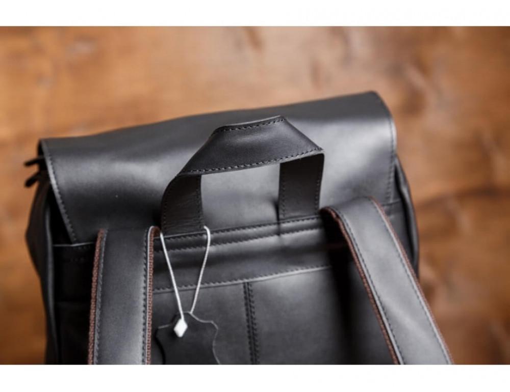 Мужской кожаный рюкзак Tiding Bag Bp5-2805A чёрный - Фото № 7