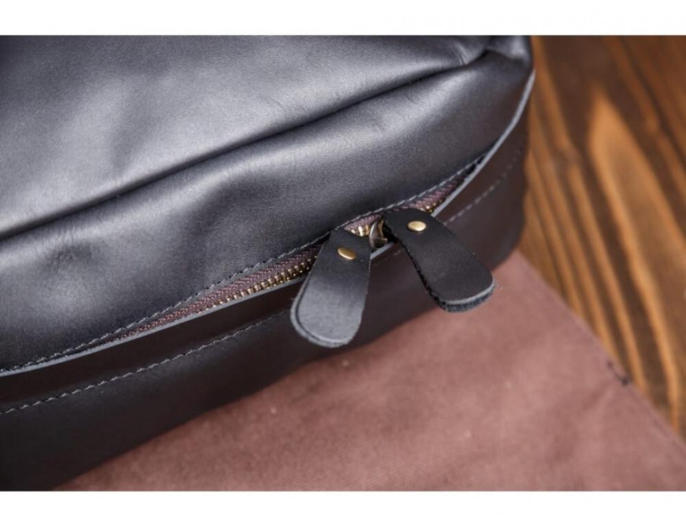 Мужской кожаный рюкзак Tiding Bag Bp5-2805A чёрный - Фото № 10
