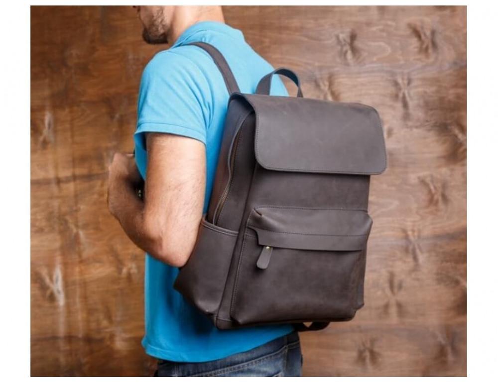 Мужской кожаный рюкзак Tiding Bag Bp5-2805J коричневый - Фото № 2