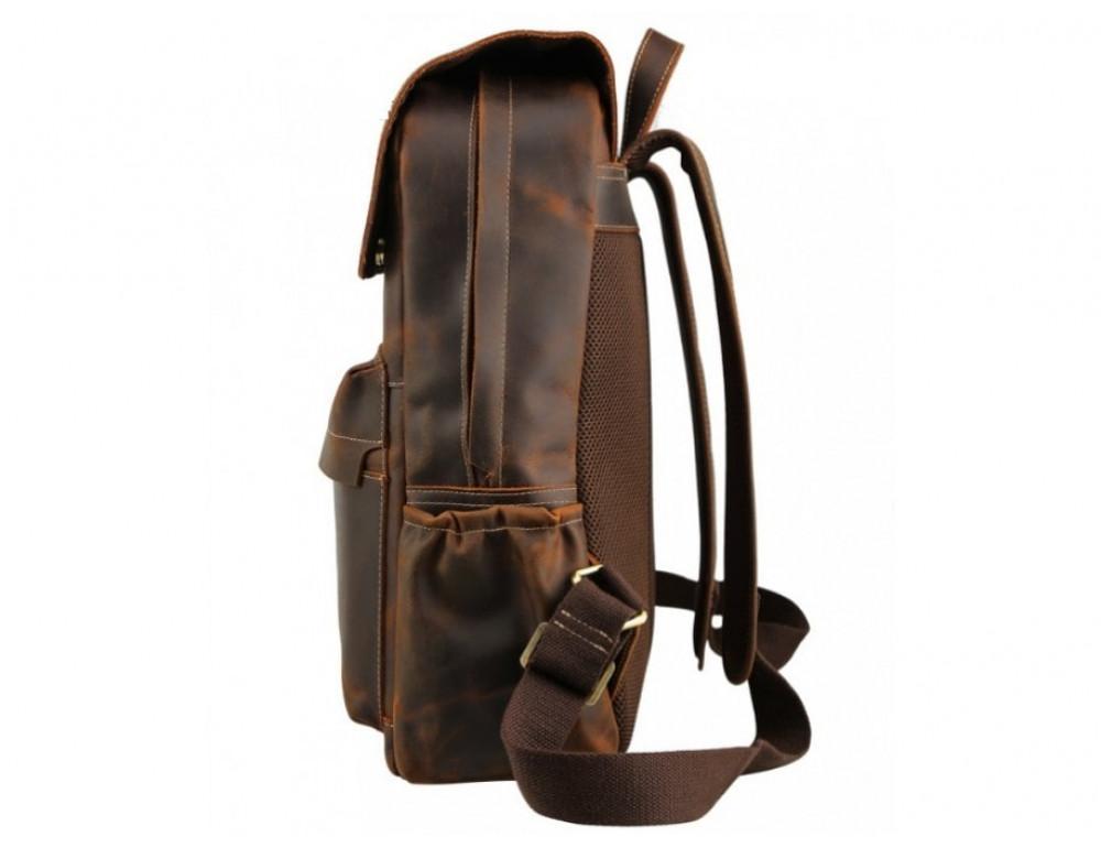Мужской кожаный рюкзак Tiding Bag Bp5-2805J коричневый - Фото № 3