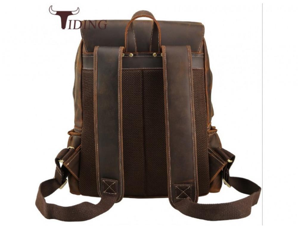 Мужской кожаный рюкзак Tiding Bag Bp5-2805J коричневый - Фото № 4