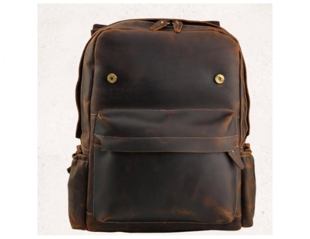 Мужской кожаный рюкзак Tiding Bag Bp5-2805J коричневый - Фото № 5