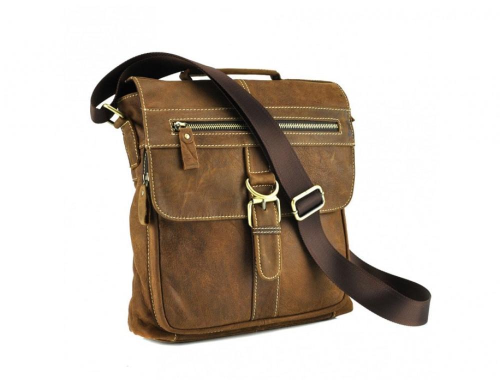 Винтажная сумка BEXHILL BX1292R коричневая - Фото № 3