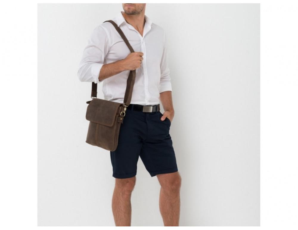 Сумка через плечо мужская TIDING BAG NM15-2542-1C коричневая - Фото № 2