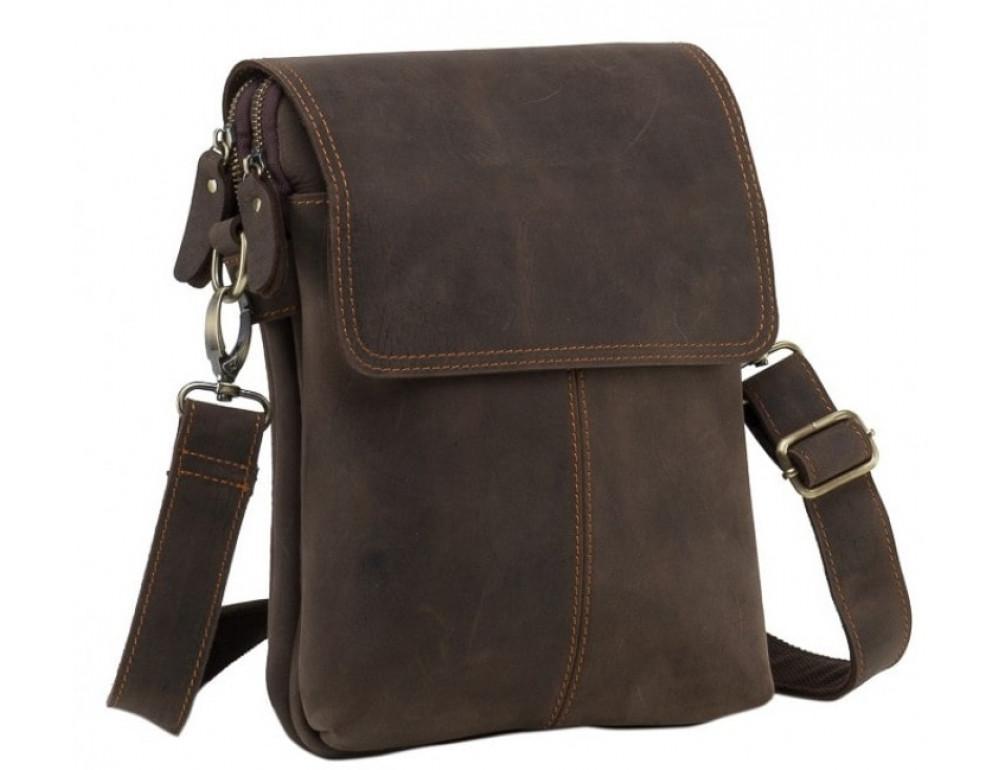 Сумка через плечо мужская TIDING BAG NM15-2542-1C коричневая - Фото № 1