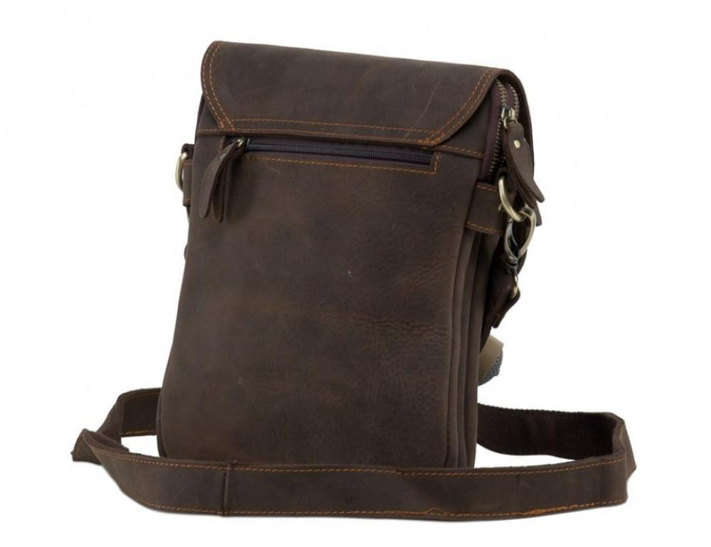 Сумка через плечо мужская TIDING BAG NM15-2542-1C коричневая - Фото № 4