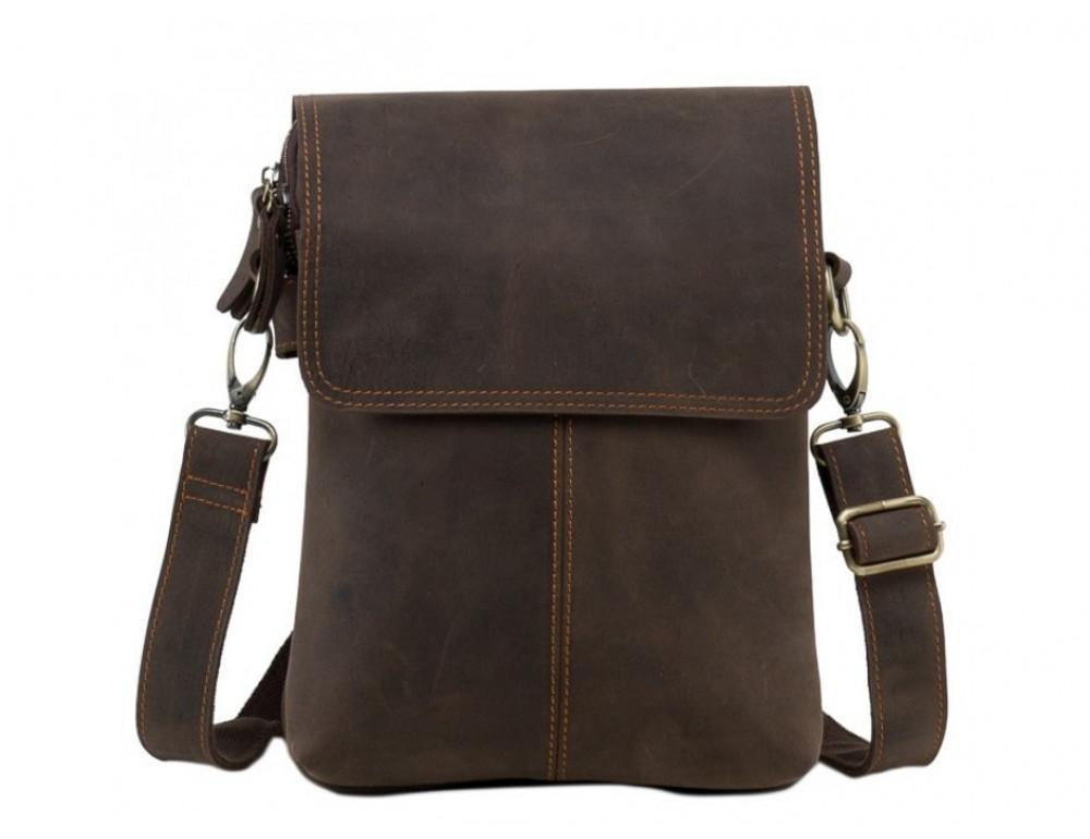 Сумка через плечо мужская TIDING BAG NM15-2542-1C коричневая - Фото № 5