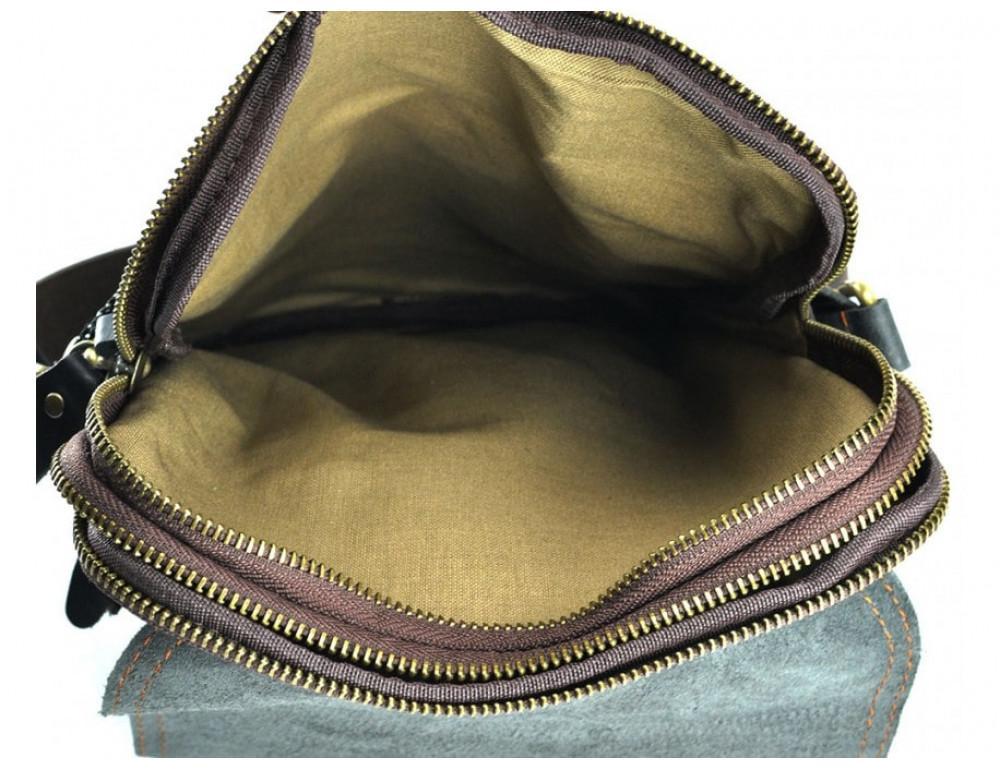 Сумка через плечо мужская TIDING BAG NM15-2542-1C коричневая - Фото № 3