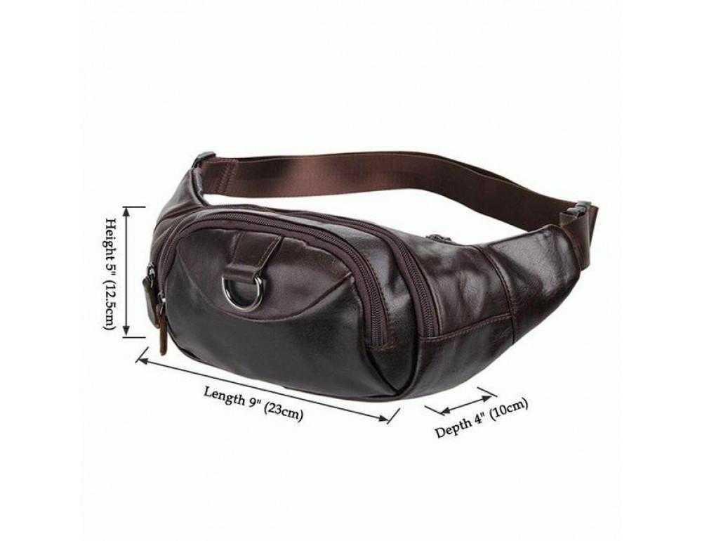 Шкіряна напоясний сумка TIDING BAG 7211C - Фотографія № 6